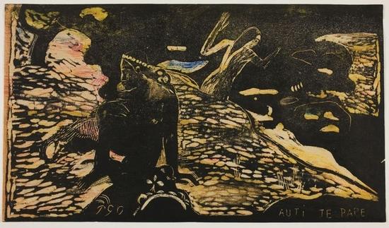 Paul Gauguin - gravure destinée à illustrer son texte Noa Noa