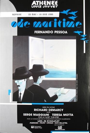 © conception graphique : Beau Fixe peinture : Fernando Pessoa-seul de Costa Pinheiro